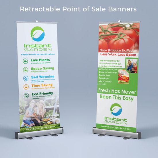Instant Garden POS Banners