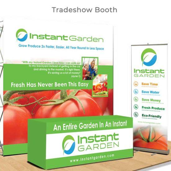 Instant Garden Trade Show Booth
