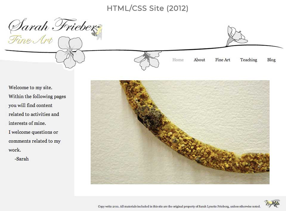 Sarah Frieberg Website(old site)