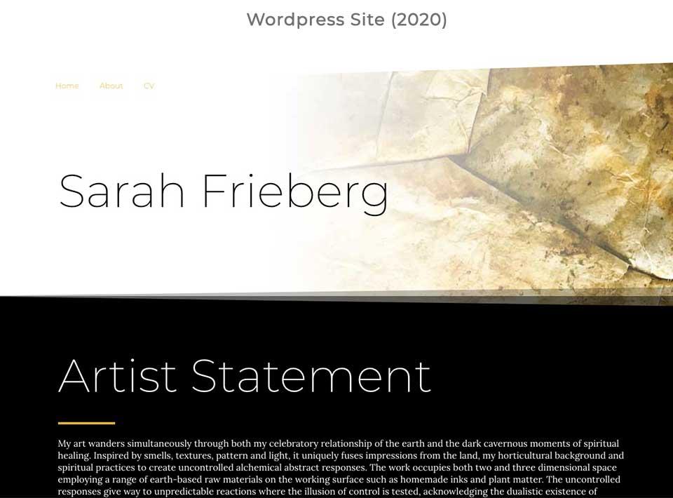 Sarah Frieberg Website